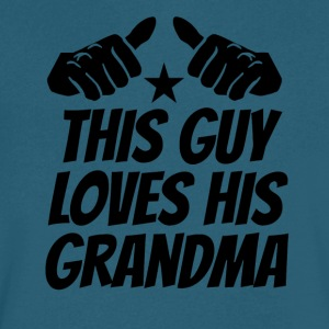 This Guy Loves His Grandma - Men's V-Neck T-Shirt by Canvas