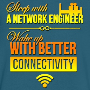 network engineer sleep with a network engineer - Men's V-Neck T-Shirt by Canvas