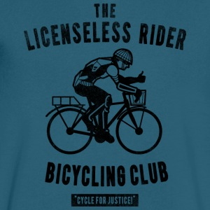the Licenseless Rider Bicycling club T Shirt - Men's V-Neck T-Shirt by Canvas
