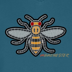 Manchester Bee - Men's V-Neck T-Shirt by Canvas