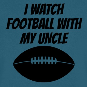 I Watch Football With My Uncle - Men's V-Neck T-Shirt by Canvas