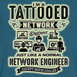 iam tattooed network - Men's V-Neck T-Shirt by Canvas
