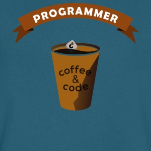 Programmers Gift- Coffee&Code- Shirt, Hoodie,Tank - Men's V-Neck T-Shirt by Canvas