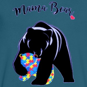 Autism Awareness Mom Mama Bear - Men's V-Neck T-Shirt by Canvas