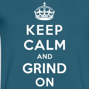 Keep Calm And Grind On white - Men's V-Neck T-Shirt by Canvas