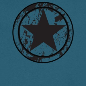 Grunge Star - Men's V-Neck T-Shirt by Canvas