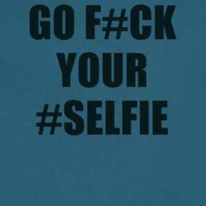Go Fuck Your Selfie - Men's V-Neck T-Shirt by Canvas