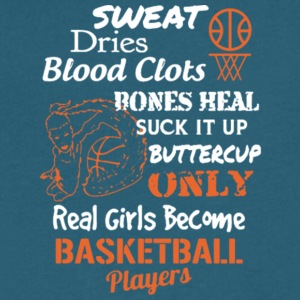 Real Girls Become Basketball Players T Shirt - Men's V-Neck T-Shirt by Canvas