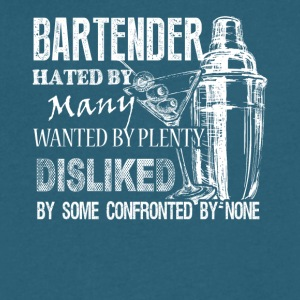 Awesome Bartender Tee Shirt - Men's V-Neck T-Shirt by Canvas