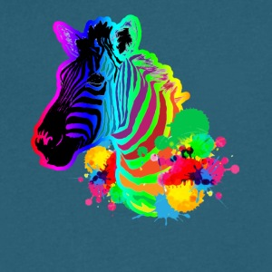 zebra tee shirt - Men's V-Neck T-Shirt by Canvas
