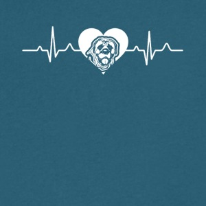 English Mastiff Heartbeat Tee Shirt - Men's V-Neck T-Shirt by Canvas