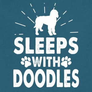 Sleeps With Doodles Clothing - Men's V-Neck T-Shirt by Canvas