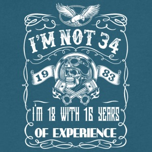 I'm not 34 1983 I'm 18 with 16 years of experience - Men's V-Neck T-Shirt by Canvas