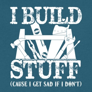 Carpenter I Build Stuff Shirts - Men's V-Neck T-Shirt by Canvas