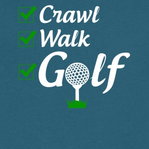 Crawl Walk Golf - Men's V-Neck T-Shirt by Canvas