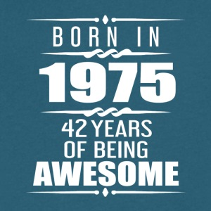Born in 1975 18 Years of Being Awesome - Men's V-Neck T-Shirt by Canvas