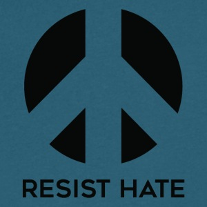 Resist Hate - Men's V-Neck T-Shirt by Canvas