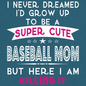 A Super Cute Baseball Mom T Shirt - Men's V-Neck T-Shirt by Canvas