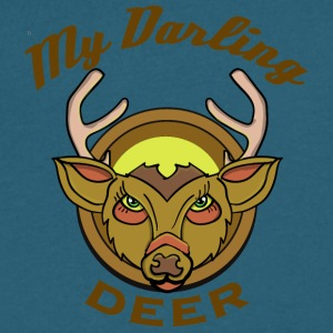 My Darling Deer - Men's V-Neck T-Shirt by Canvas