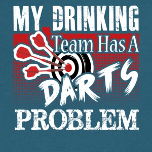 Darts T shirt My Drinking Team - Men's V-Neck T-Shirt by Canvas