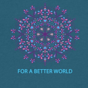 For a better world - Men's V-Neck T-Shirt by Canvas