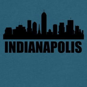 Indianapolis IN Skyline - Men's V-Neck T-Shirt by Canvas