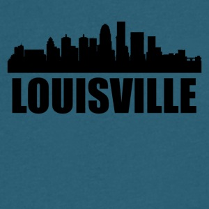 Louisville KY Skyline - Men's V-Neck T-Shirt by Canvas