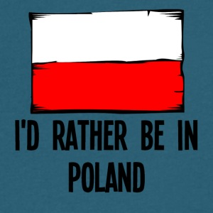 I'd Rather Be In Poland - Men's V-Neck T-Shirt by Canvas