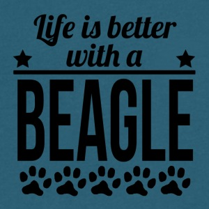 Life Is Better With A Beagle - Men's V-Neck T-Shirt by Canvas