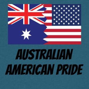 Australian American Pride - Men's V-Neck T-Shirt by Canvas