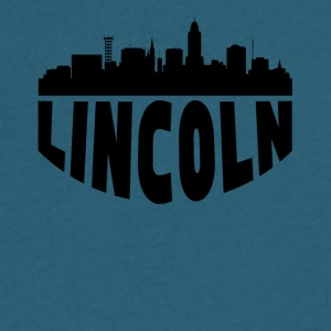 Lincoln NE Cityscape Skyline - Men's V-Neck T-Shirt by Canvas