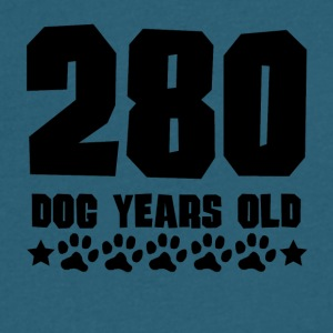 280 Dog Years Old Funny 40th Birthday - Men's V-Neck T-Shirt by Canvas