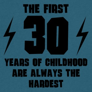 The First 30 Years Of Childhood - Men's V-Neck T-Shirt by Canvas