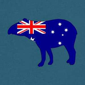 Australian Flag - Tapir - Men's V-Neck T-Shirt by Canvas