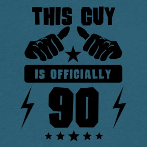 This Guy Is Officially 90 - Men's V-Neck T-Shirt by Canvas