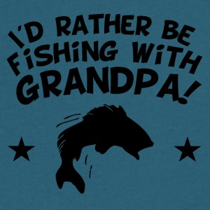 I'd Rather Be Fishing With My Grandpa - Men's V-Neck T-Shirt by Canvas
