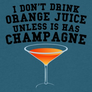 I Don't Drink Orange Juice Unless It Has Champagne - Men's V-Neck T-Shirt by Canvas