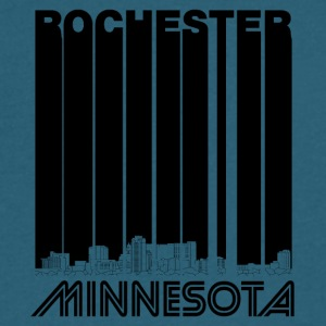 Retro Rochester Minnesota Skyline - Men's V-Neck T-Shirt by Canvas