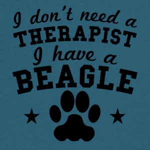I Don't Need A Therapist I Have A Beagle - Men's V-Neck T-Shirt by Canvas