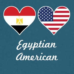 Egyptian American Flag Hearts - Men's V-Neck T-Shirt by Canvas