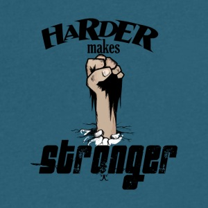 Harder Makes Stronger - Men's V-Neck T-Shirt by Canvas