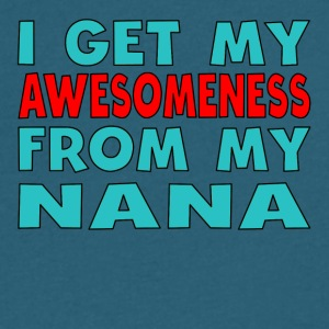 I Get My Awesomeness From My Nana - Men's V-Neck T-Shirt by Canvas