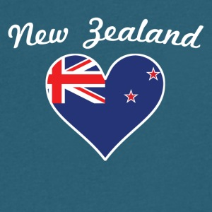 New Zealand Flag Heart - Men's V-Neck T-Shirt by Canvas