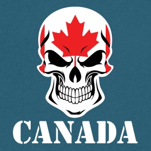 Canadian Flag Skull Canada - Men's V-Neck T-Shirt by Canvas
