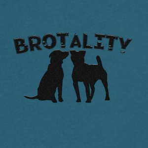 brotality - Men's V-Neck T-Shirt by Canvas