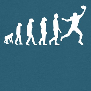 Football Evolution Wide Receiver - Men's V-Neck T-Shirt by Canvas