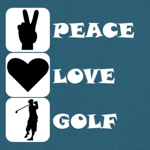 Peace Love Golf - Men's V-Neck T-Shirt by Canvas