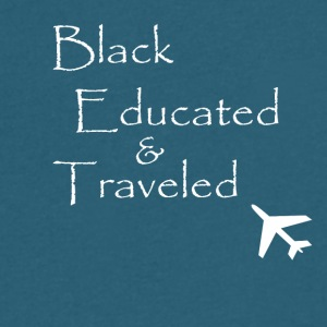 BET: Black Educated and Traveled - Men's V-Neck T-Shirt by Canvas