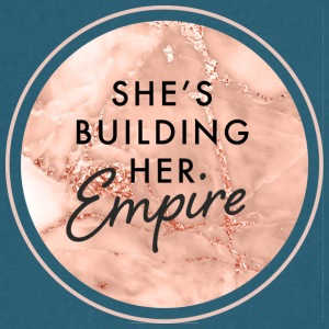 She's Building Her Empire - Men's V-Neck T-Shirt by Canvas