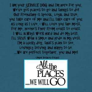 Service dog poem tourq - Men's V-Neck T-Shirt by Canvas